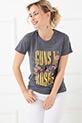 Desenli T-Shirt / Gri
