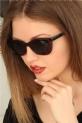 Bordo Renk Çerçeveli Clariss Bayan Güneş Gözlüğü / Kahverengi
