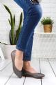 Sarafina Gri Cilt Babet Ayakkabı / Gri