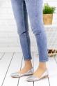 Diletta Gümüş Cilt Babet Ayakkabı / Gümüş