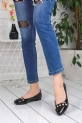 Bici Siyah Rugan Babet Ayakkabı / Siyah