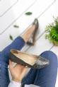 Benilde Füme Cilt Babet Ayakkabı / Füme