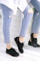 Dafne Siyah Cilt Babet Ayakkabı / Siyah