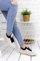 Dina Beyaz Cilt Babet Ayakkabı / Beyaz
