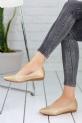 Sarafina Gold Cilt Bayan Babet Ayakkabı / Gold