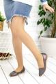 Diletta Platin Cilt Babet Ayakkabı / Platin