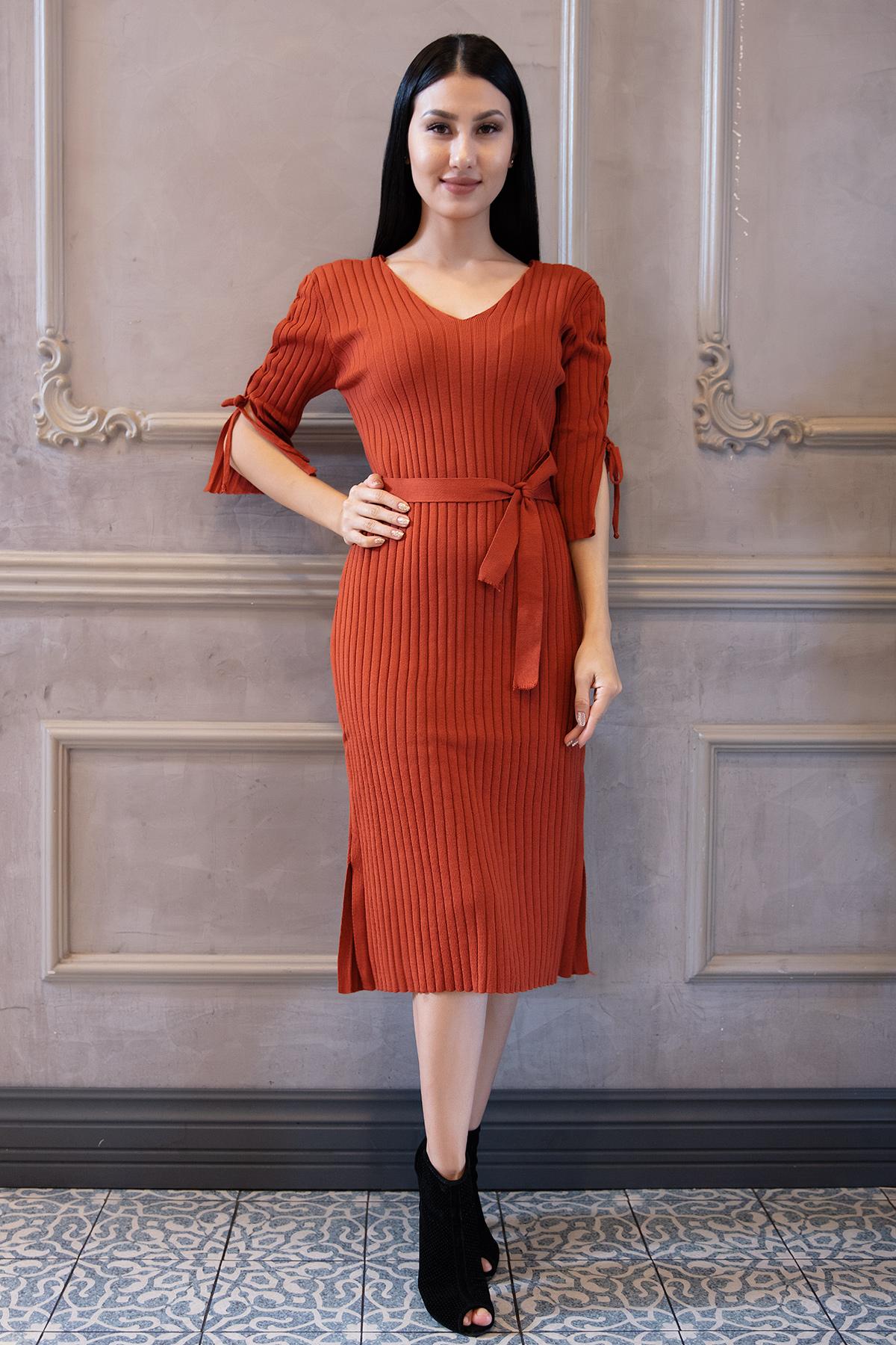 5104 Melissa Kol Bağcıklı Triko Elbise-19K54004H09